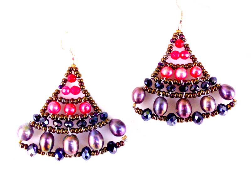 Mermaid Fuchsia - earrings