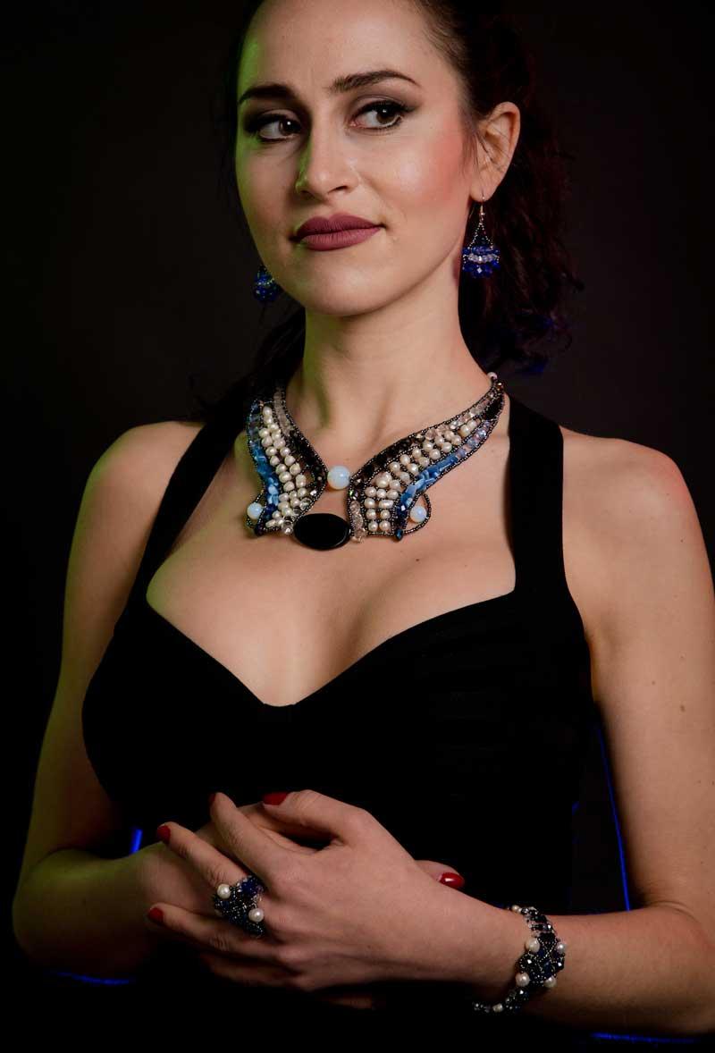 Sheherezade Sapphire - ring & bracelet