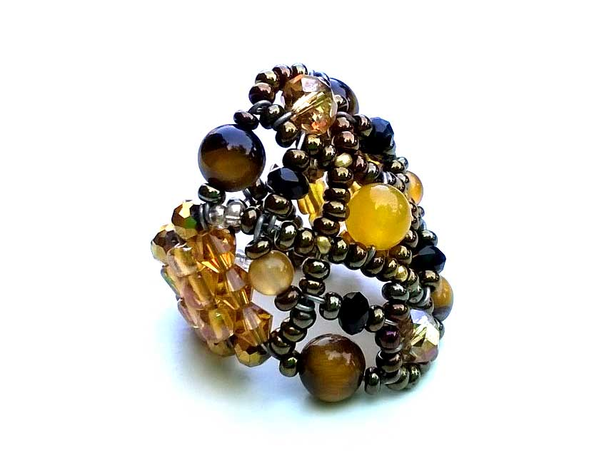 Sheherezade Tiger Eye - ring