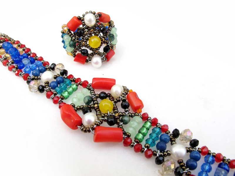 Sheherezade Black Sand - ring & bracelet