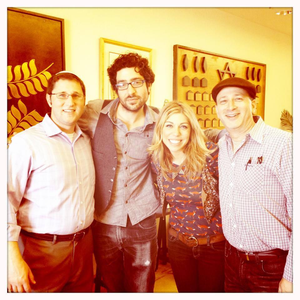 Foster City, CA at Peninsula Sinai Congregation with Cantor Doron Shapira and Rabbi Corey Helfand
