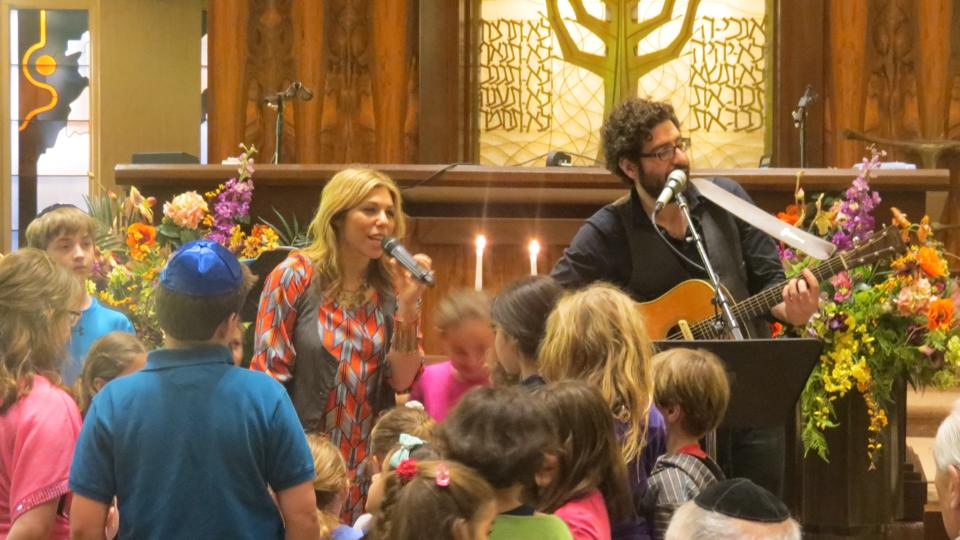 """Freedom Shabbat Service"" at Temple Shalom of West Essex, Cedar Grove, NJ with Rabbi Lawrence Groffman and Cantor Betsey Peters-Epstein"
