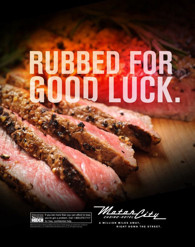 Helping Motor City Casino spread the message of their enhanced steak selection. | Agency : Campbell Ewald