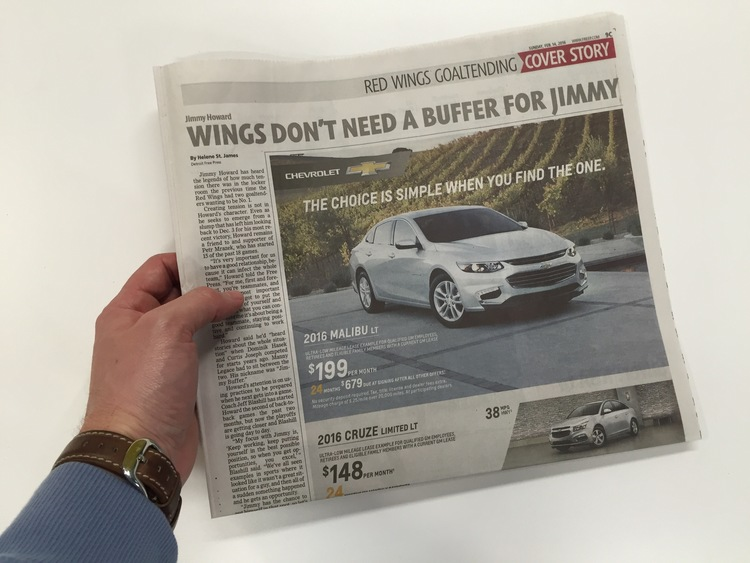 A Valentine's Day retail ad for the Chevy Malibu. | Agency : CW/McCann