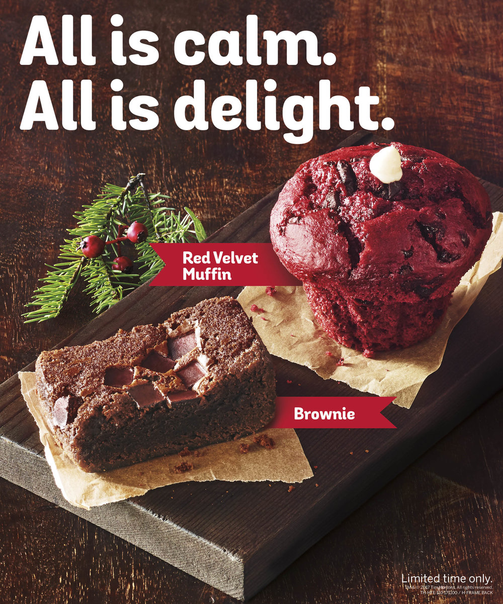 Holiday Red Velvet Muffin Brownie Ad_Tim Hortons_Johnny Michael