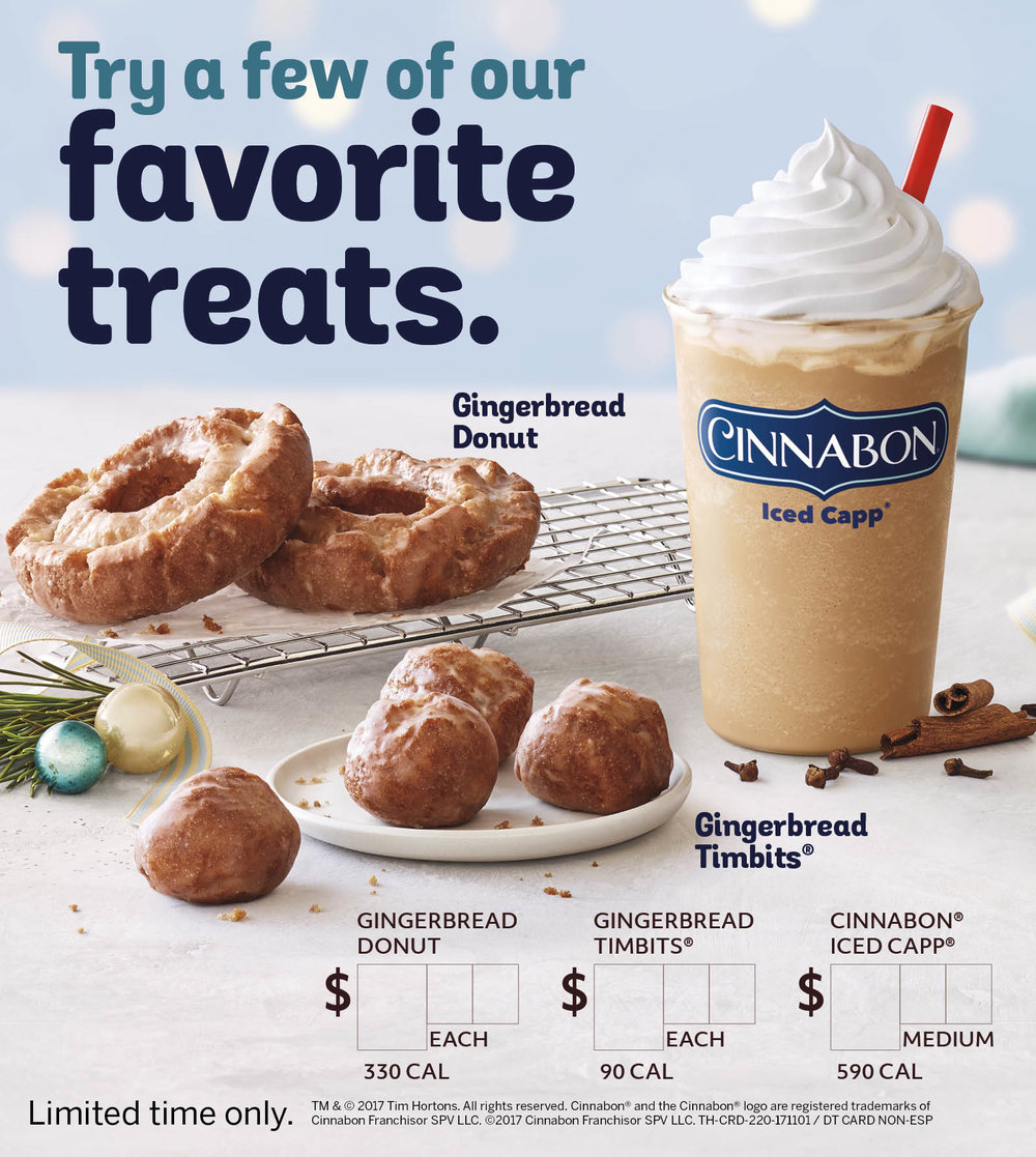 Cinnabon Gingerbread Donut Ad_Tim Hortons_Johnny Michael