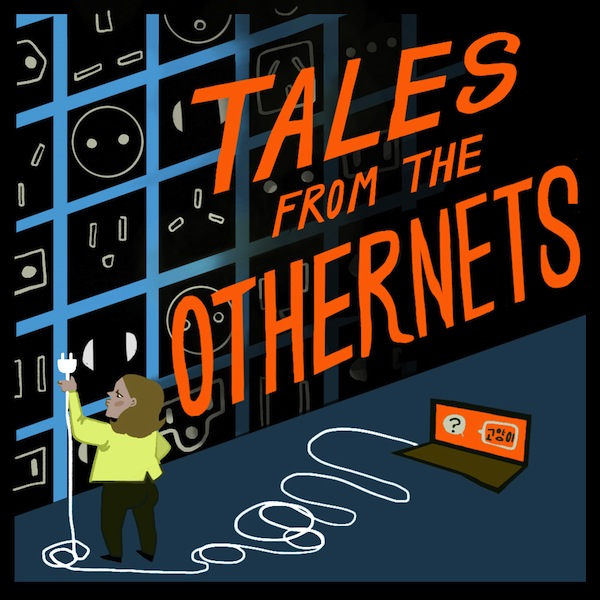 Podcast illustration for Adriene Lilly's show Tales From The Outernet, available to listen to at SOAS radio.