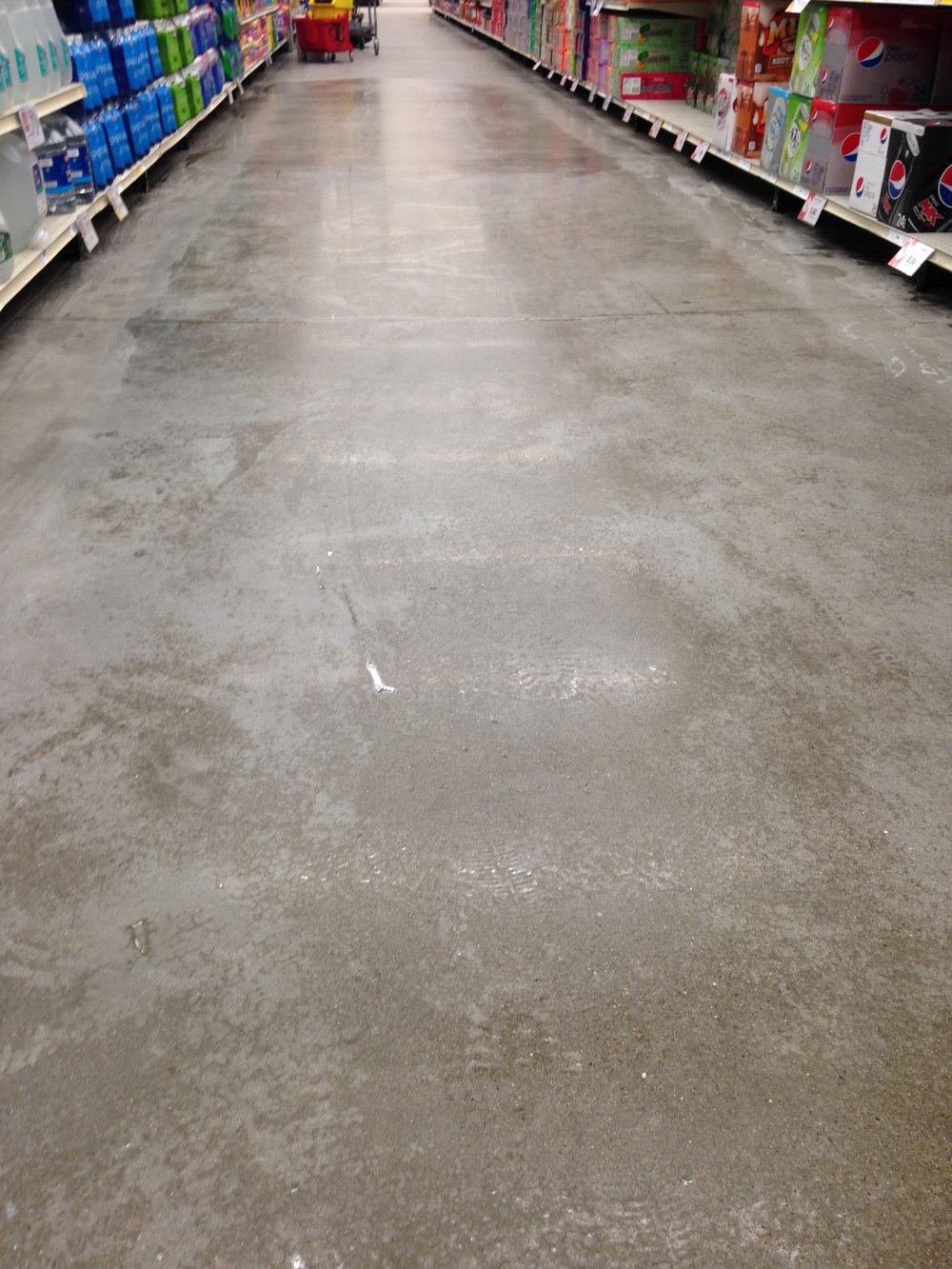 Grocery Store Floors Before