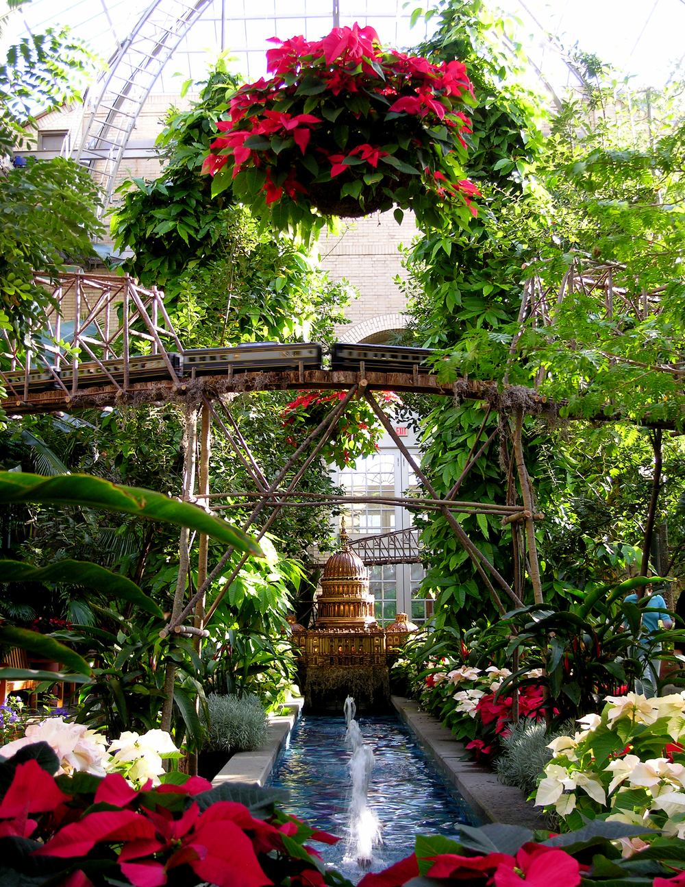 United States Capitol At United States Botanic Garden