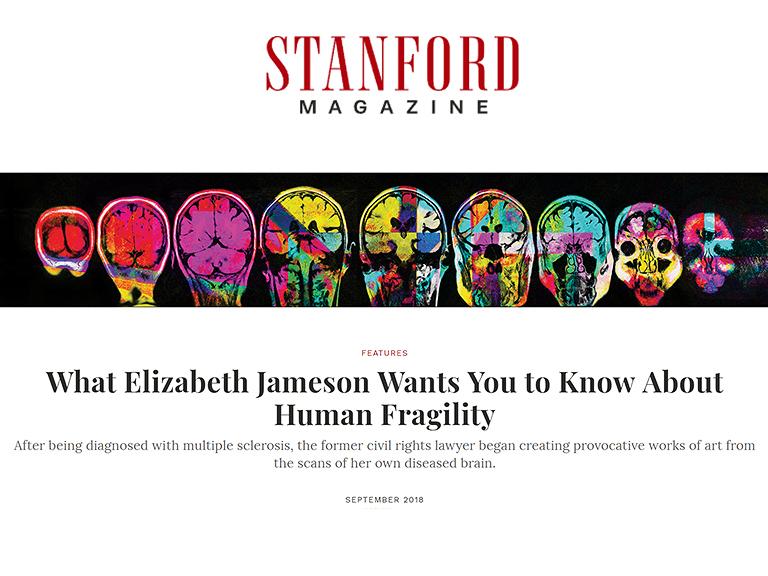 Stanford Magazine Interview with Elizabeth Jameson; also published on Medium