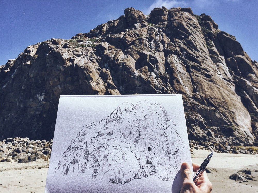 Drawing Morro Rock