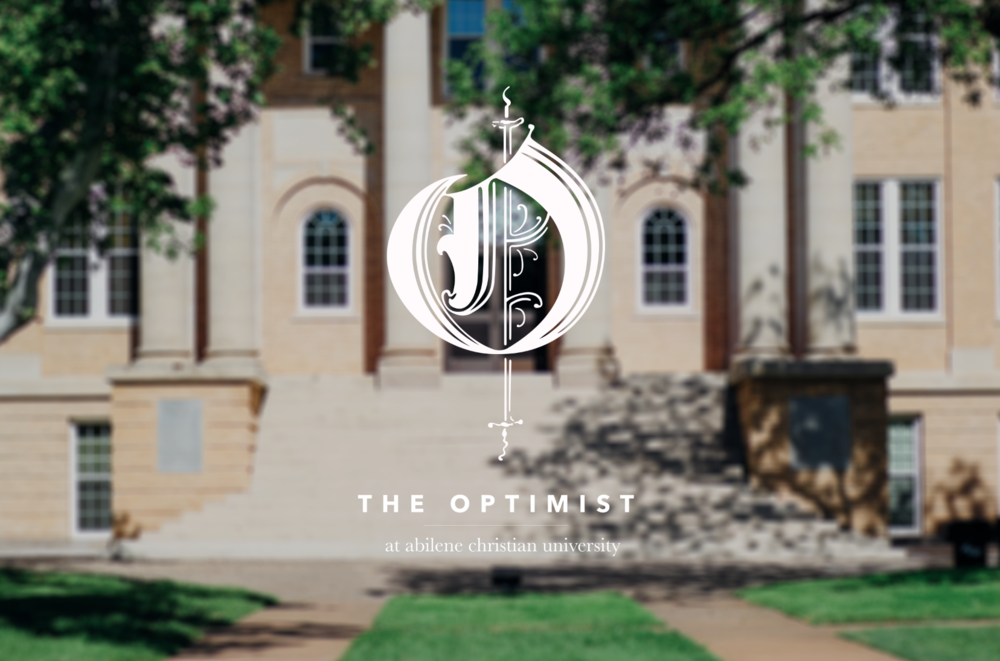 "Rebranding of  The Optimist,  based on 1920s vintage Optimist ""O"" nameplate. Original photography of ACU's campus."