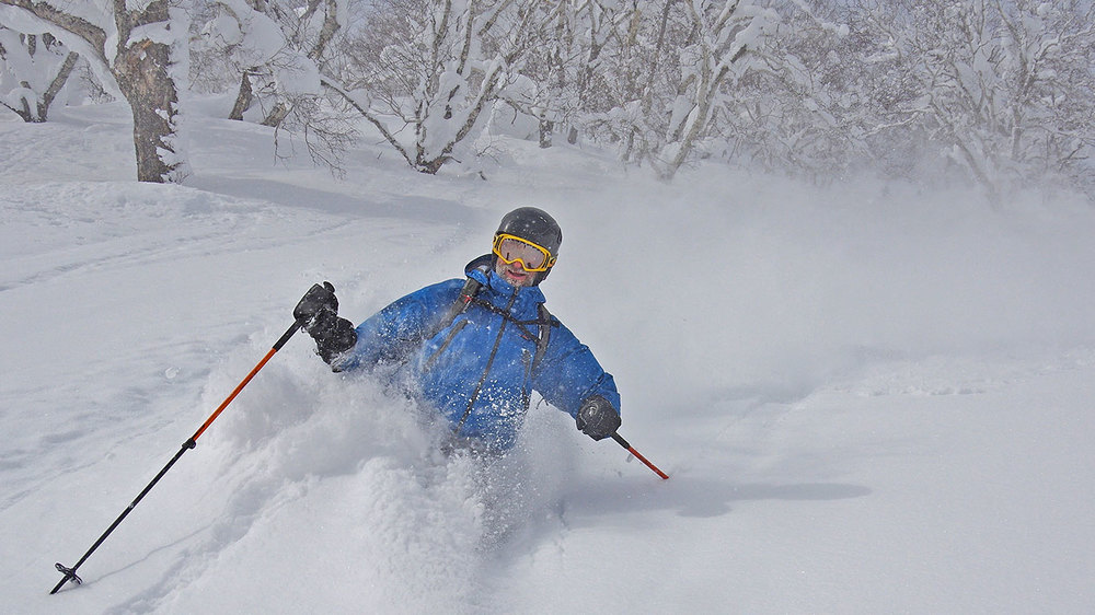 "Paul ""Stretch"" Daniel, deep in the Hokkaido Powder. Photo: Tim Macartney-Snape."