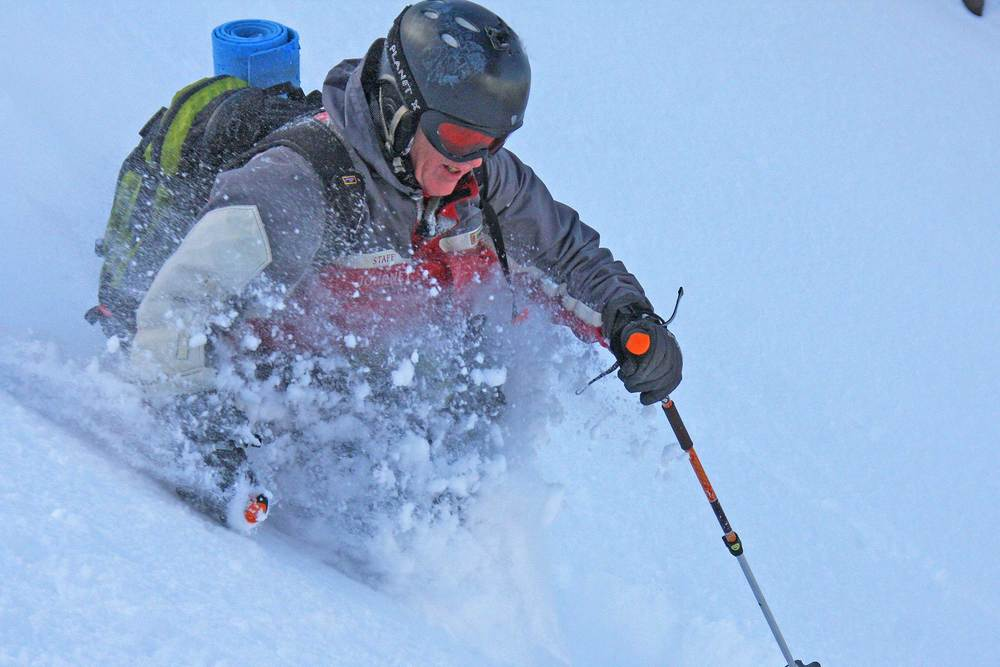 John Morrell in the Tokachi Powder