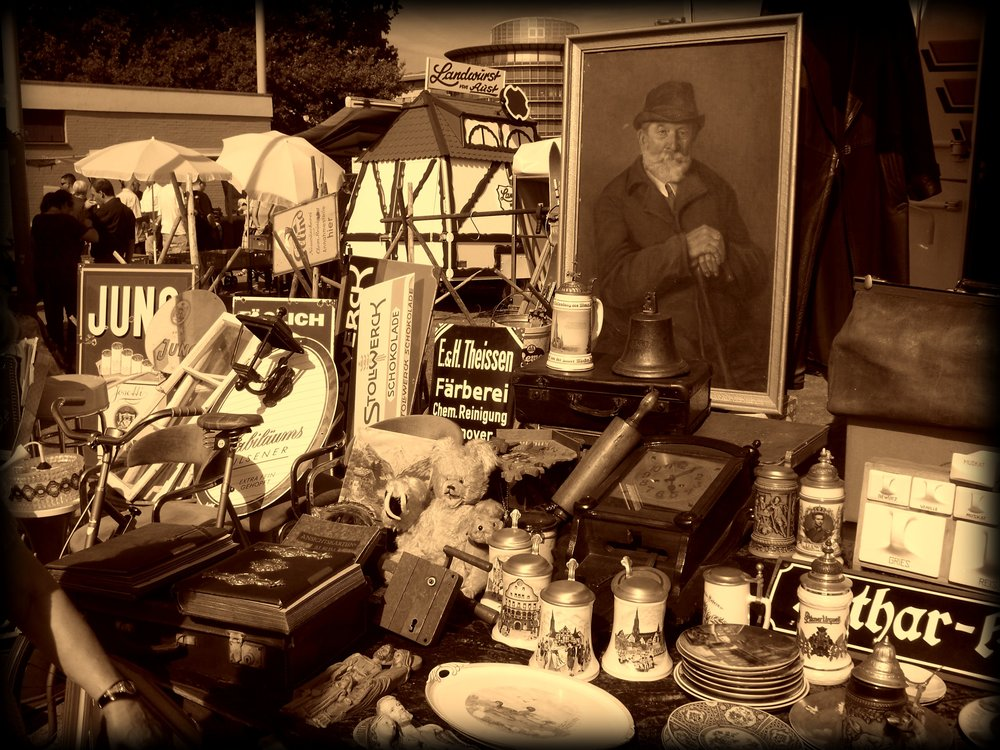 Antique market in Braunschweig Germany