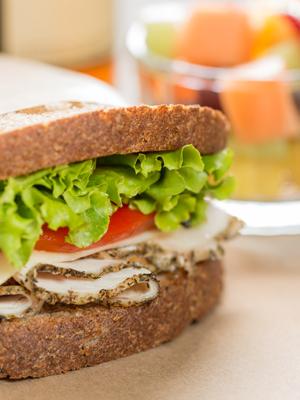 Basil Pesto Turkey Sandwich