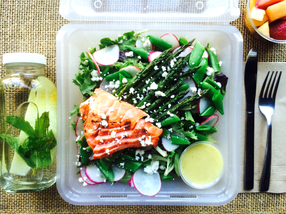 Grilled Asparagus & Salmon Spring Salad