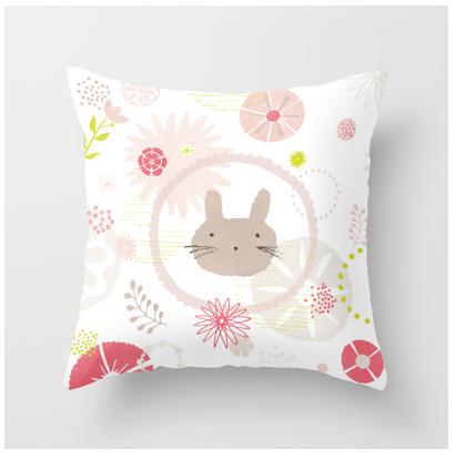 Bunny Face Pillow Melissa Iwai