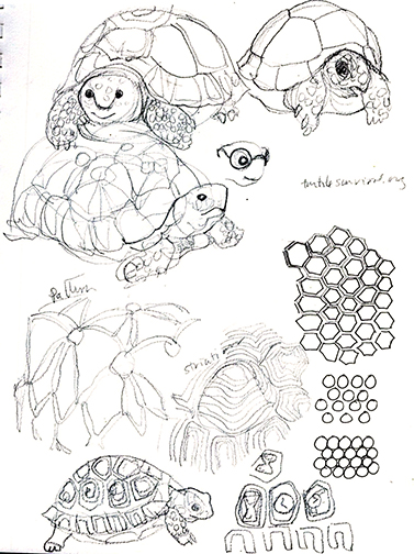 First page of sketches