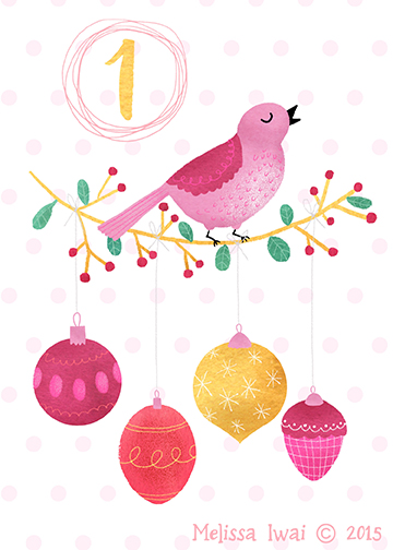 Advent Calendar Art - day 1 Melissa Iwai 2015