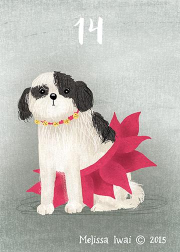 Poinsettia Dog Melissa Iwai 2015