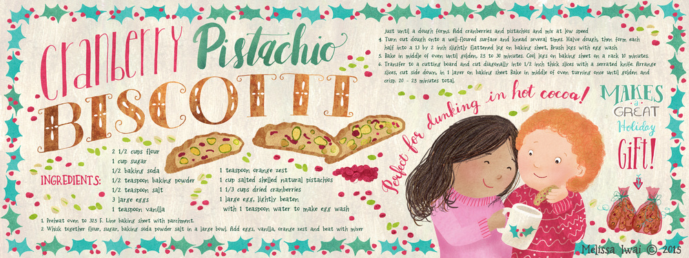 Cranberry Pistachio Biscotti Melissa Iwai
