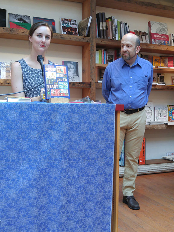 Denis being introduced at BookCourt