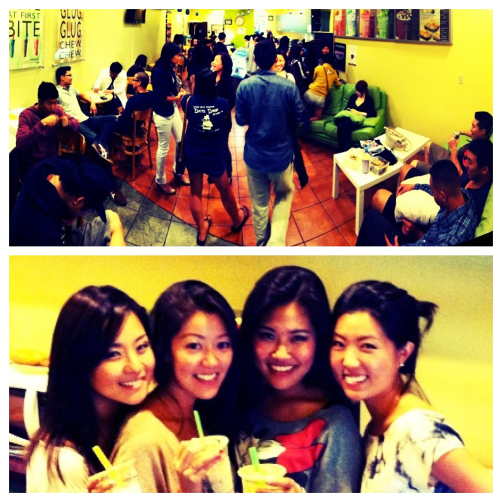 Ekko's Post Kavvanah Party at Boba Loca in La Habra.   Thanks to Jenny and Kelly Kim.     We pray, we worship, we boba.