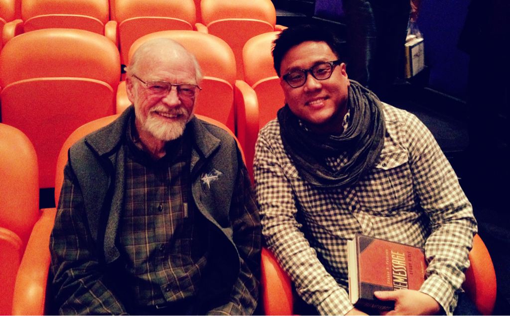 """I'm so grateful to have met Pastor/Author Eugene Peterson. Truly honored. His book, """"Pastor"""", has impacted me much. I love being a pastor, thank you God for allowing me to do this. #Qpractices"""