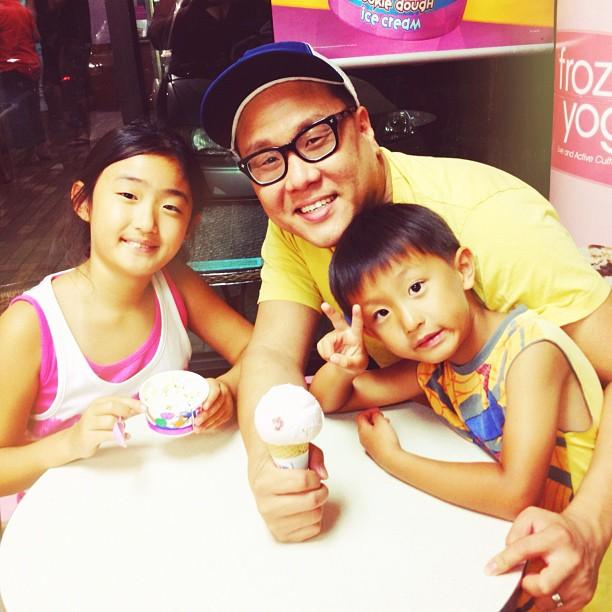 Quality time w niece/nephew from Korea.  (Taken with  Instagram )