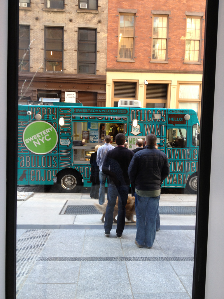 Food truck provided by Q for us attendees. I milked the system. #Qpractices