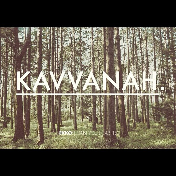 Kavvanah | Tonight #ekkochurch  (Taken with  Instagram )