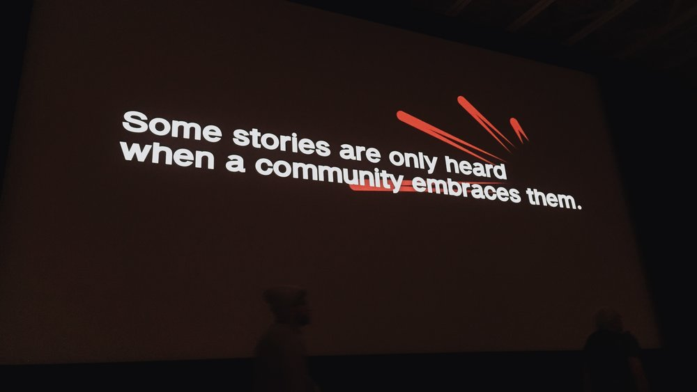 This is our way of Embracing a Community and their Story.