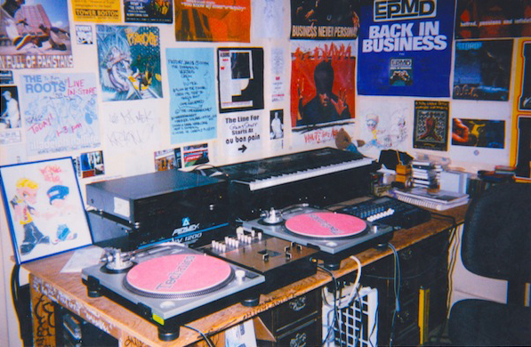Matt's bedroom studio during his radio days.