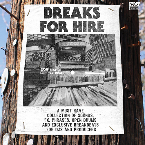 "Breaks For Hire 7"", available via Redefinition Records."