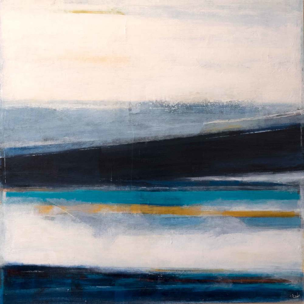 "Darkest Blue of the Spring Thaw  30X30""   SOLD"