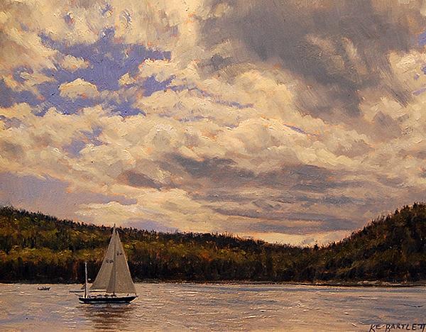 Sail on Somes Sound