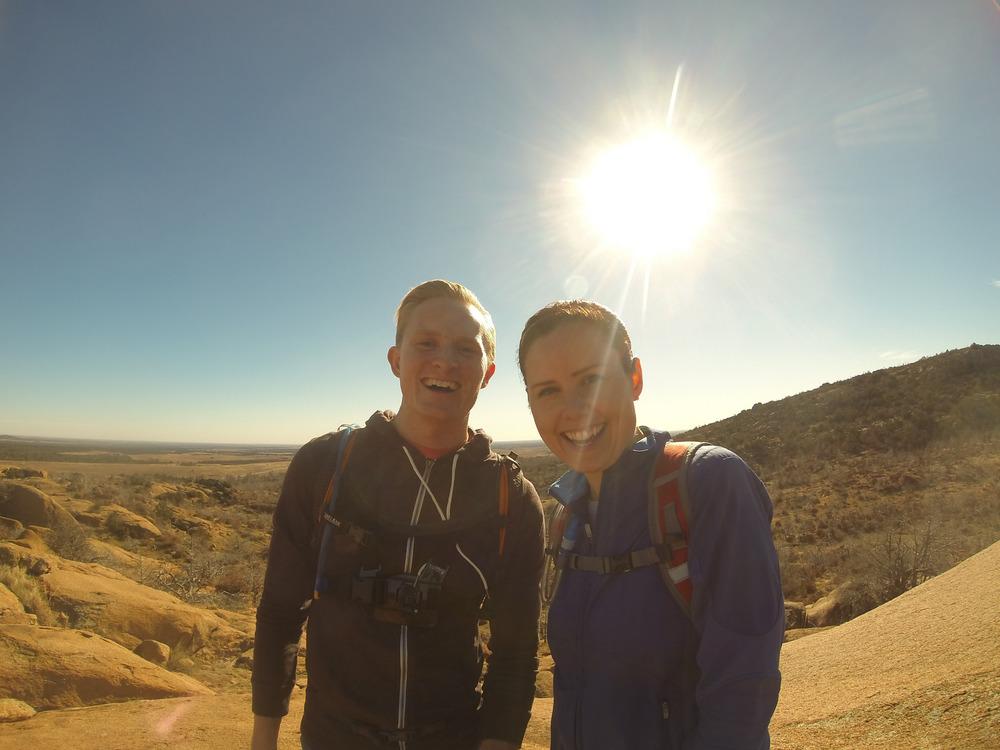 Happy explorers