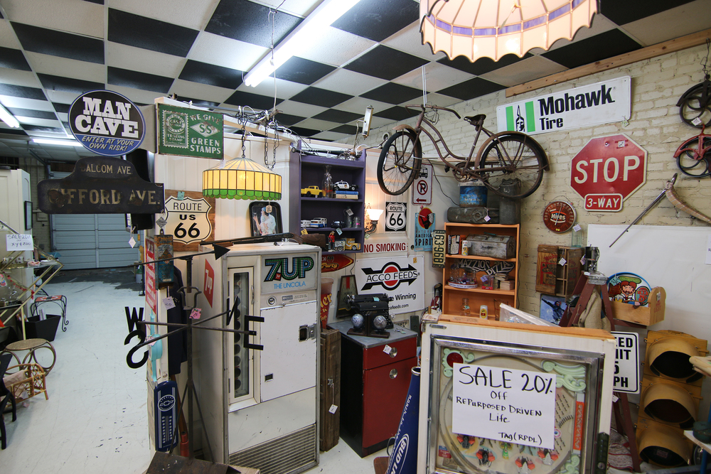 "The ""Re-Purposed Driven Life"" booth at Vintiques Market showcases items for the manly man in your life"