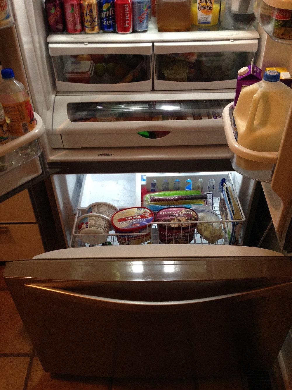 Hello bottom door freezer, I love you!