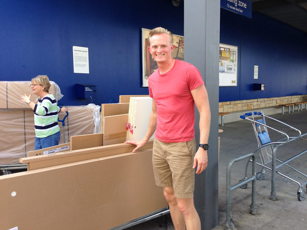 Denny with the Ikea haul