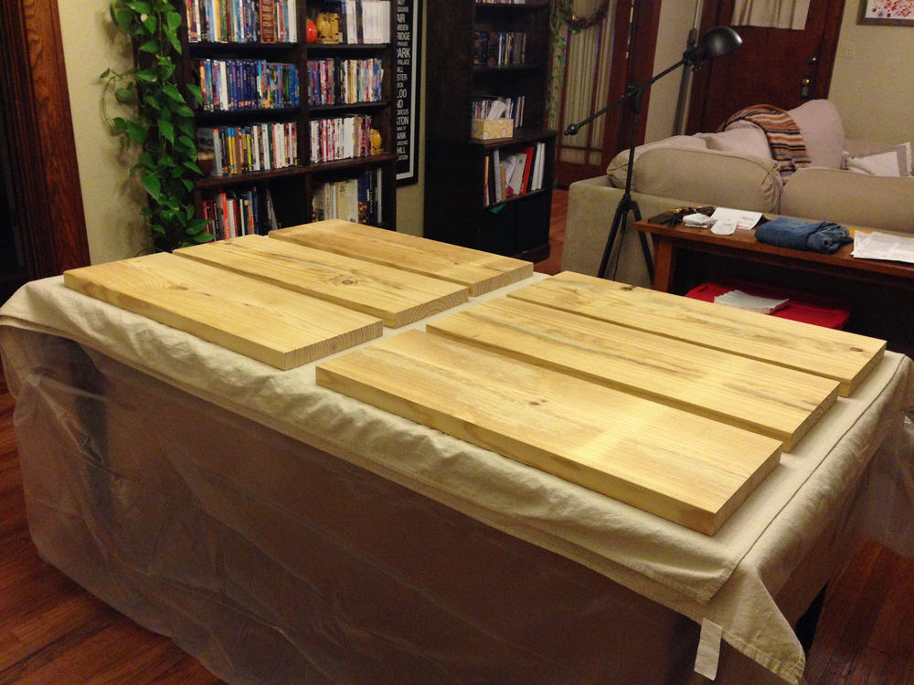 The staining station