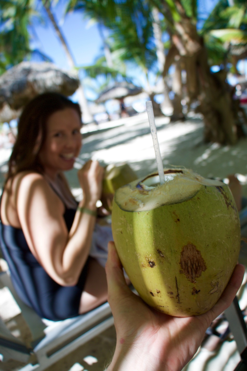 The Ma Loo Juice Bar had fresh coconuts that they would cut with a machete and serve to you straight with a straw.