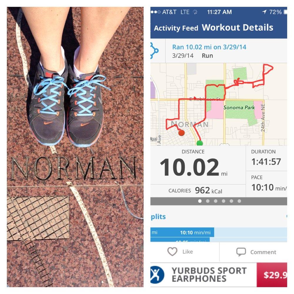 My first 10+ mile run