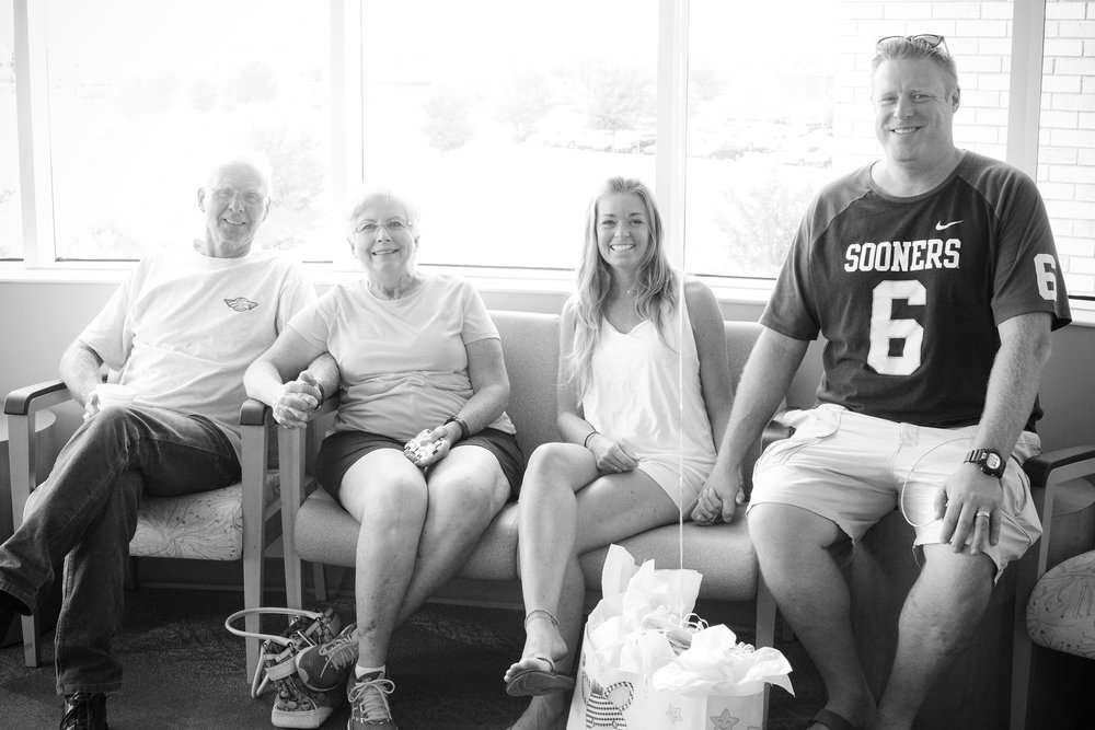 Family in the waiting room