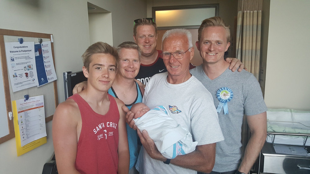 Three generations of Vanderburg men