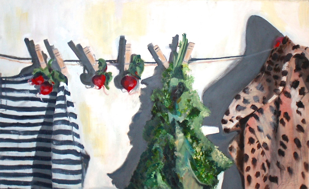 Clothesline Painting by Kara Templeton