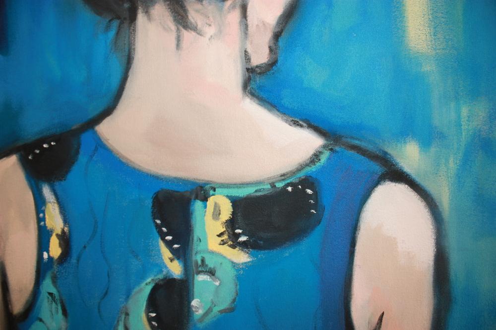 Self Portrait Detail by Kara Templeton