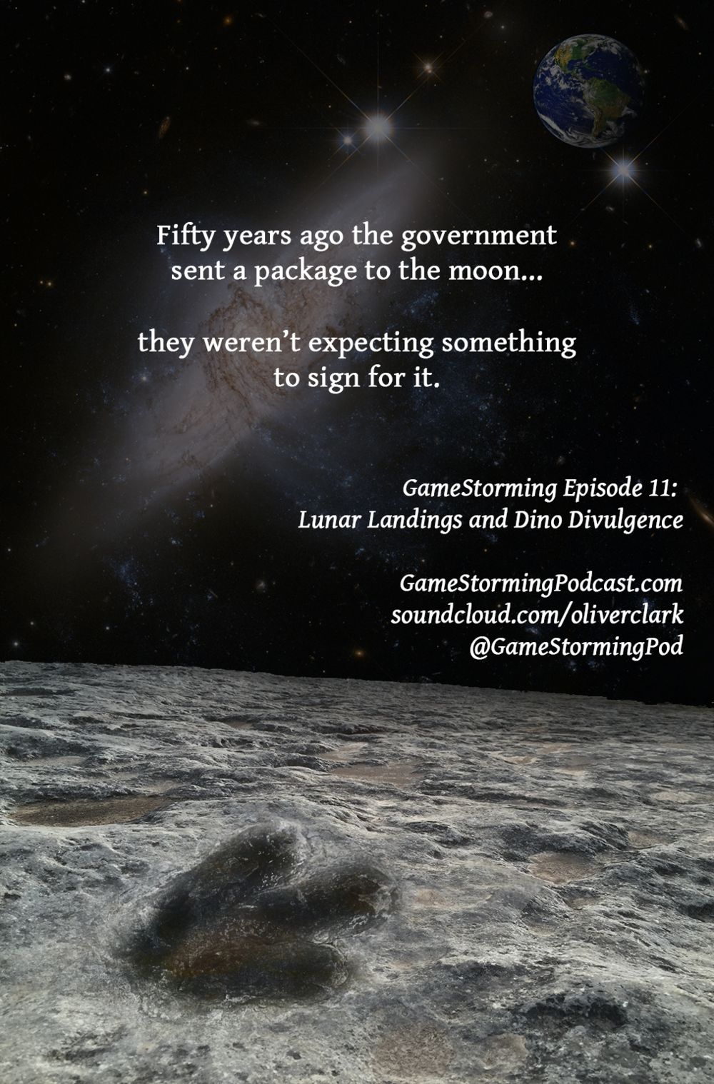 GameStorming Podcast Episode 11 Lunar Landings and Dino Divulgence Movie Poster