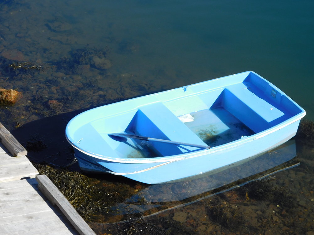 Old Blue Little Boat.JPG